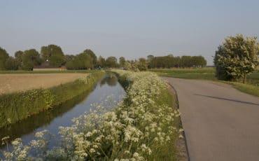 Restant van de vroegere rivier de Fivel nabij Huizinge.